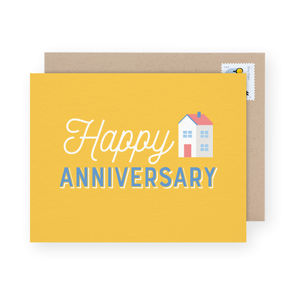 home-anniversary-business-greeting-card