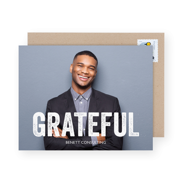 grateful business holiday card