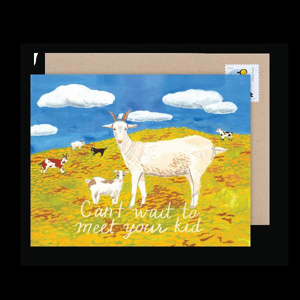 funny pregnancy pun congrats card