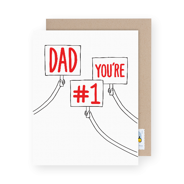 dad you're number one father's day card