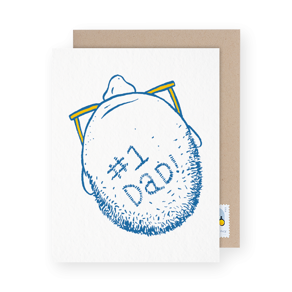 funny father's day card with a bald spot