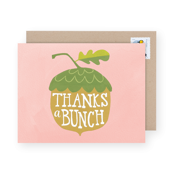 thanks a bunch thank you card
