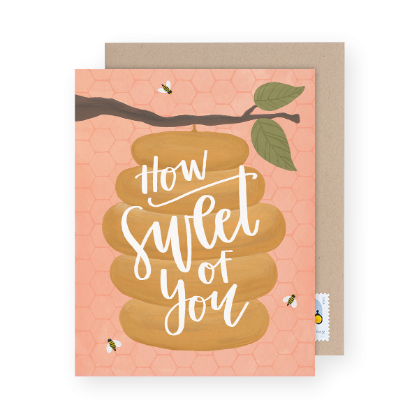 how sweet of you greeting card