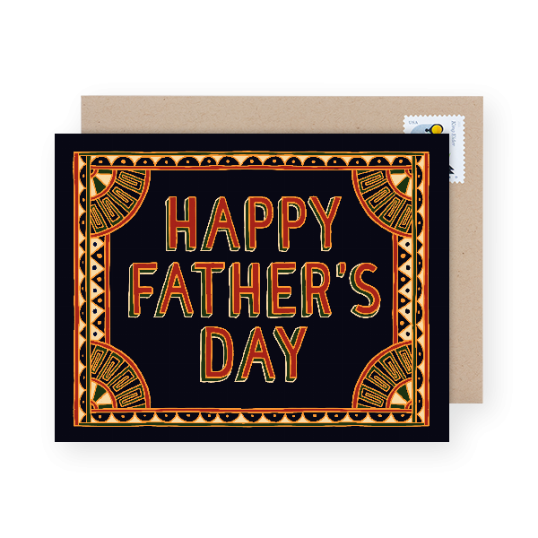 patterned father's day card