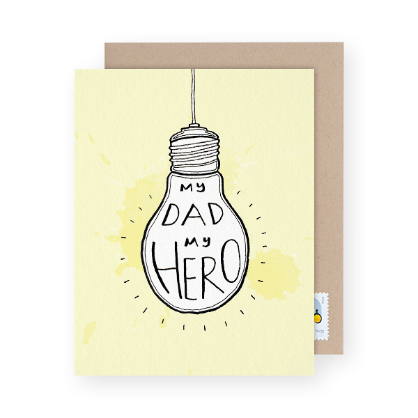 dad hero father's day card