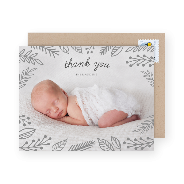 photo baby shower thank you cards