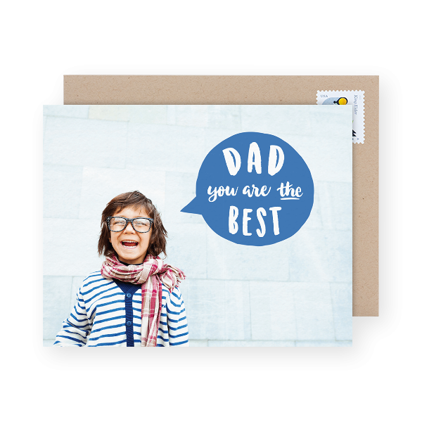 designer dad day photo card