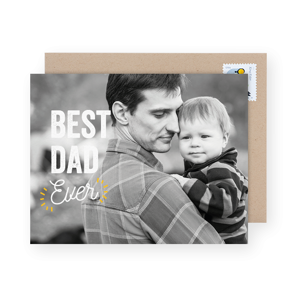 modern photo father's day card