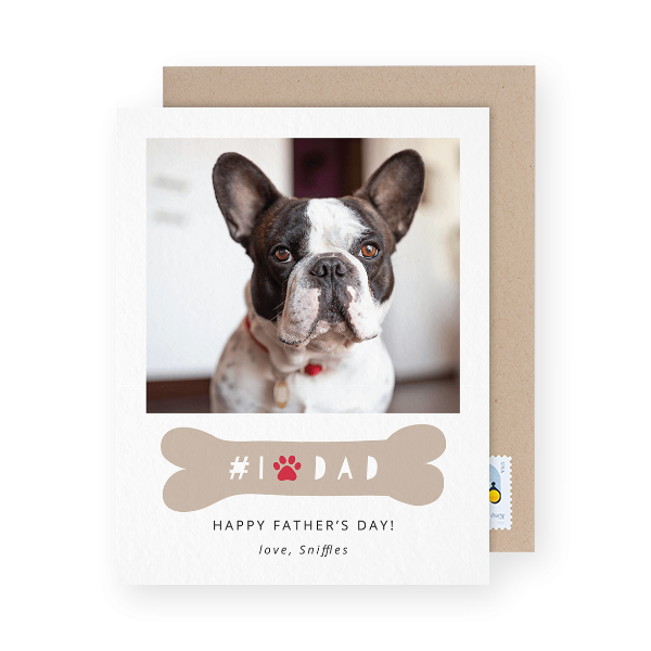 dog dad photo card