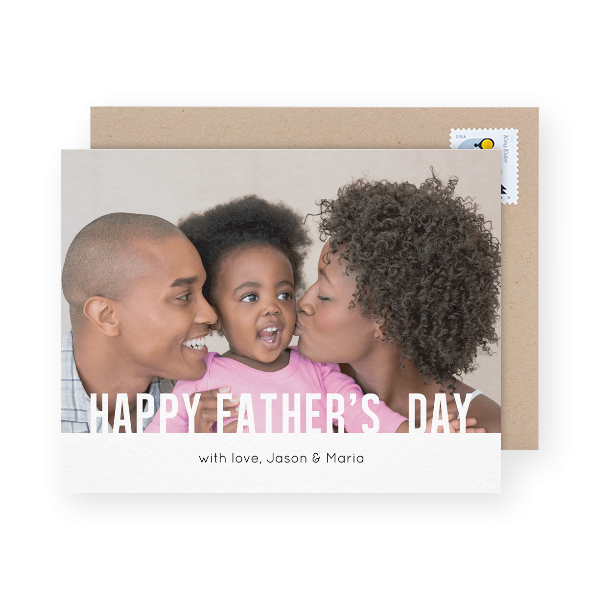 simple happy father's day greeting
