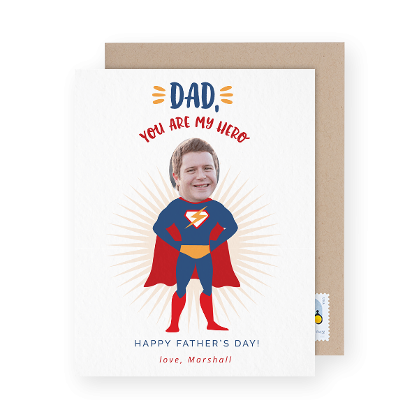 funny photo father's day card