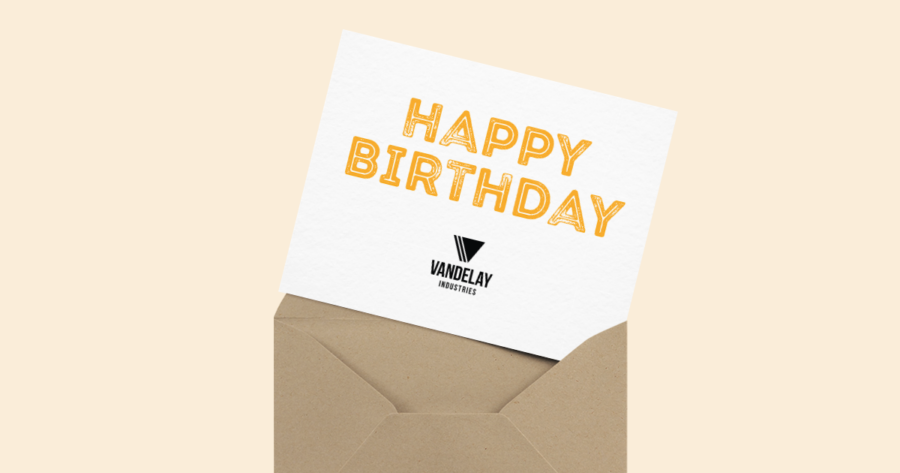 business birthday card for direct mail