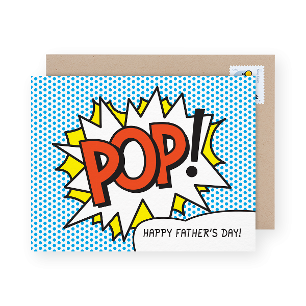comic book father's day card