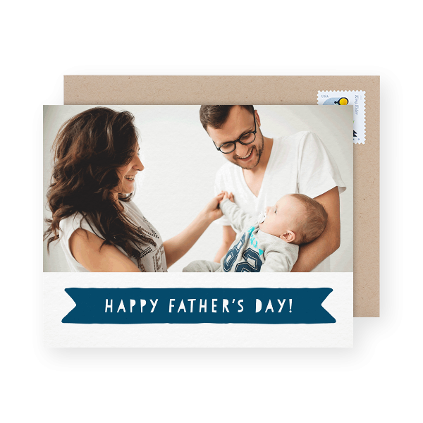 chic photo dad day card