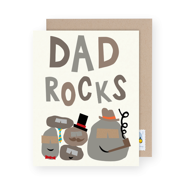 dad rocks greeting card