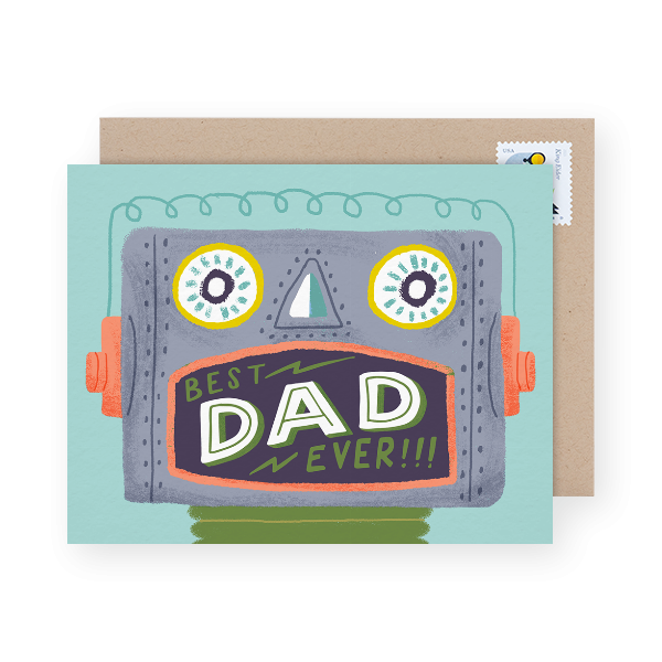colorful father's day card
