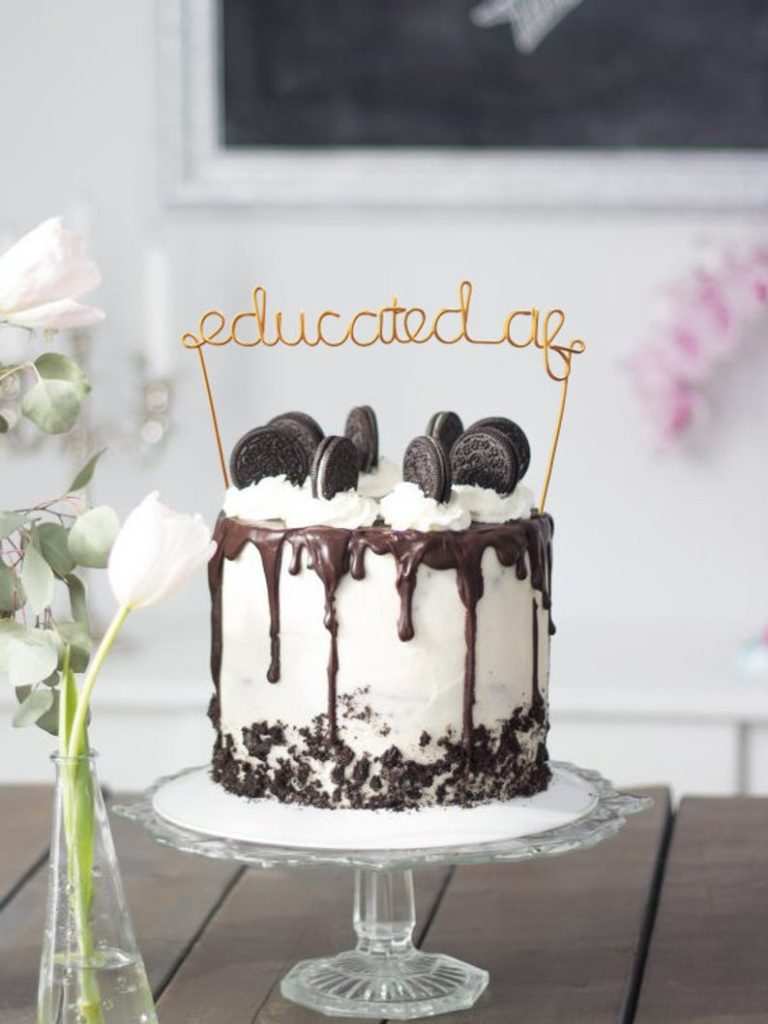 educated af grad cake topper