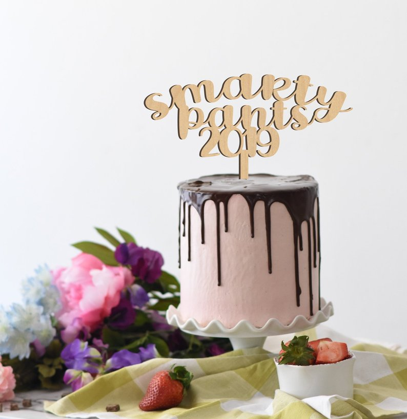 smarty pants cake topper