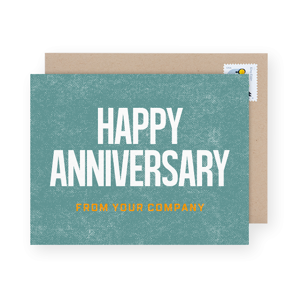 rustic business anniversary card design