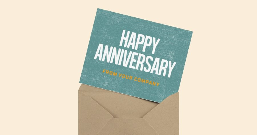 happy business anniversary card