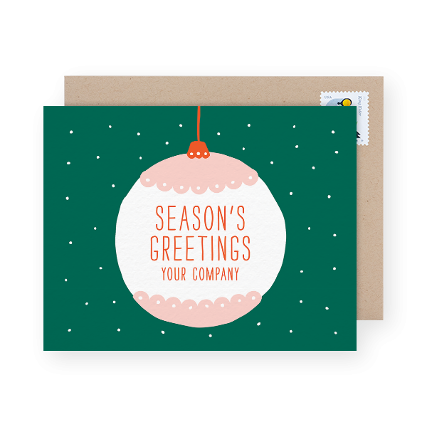 holiday direct mail card