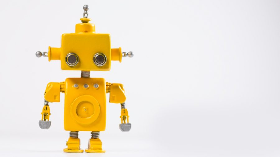 a robot signifying automated anniversary cards